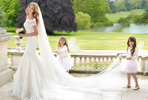 Vestido de novia muy esponjado